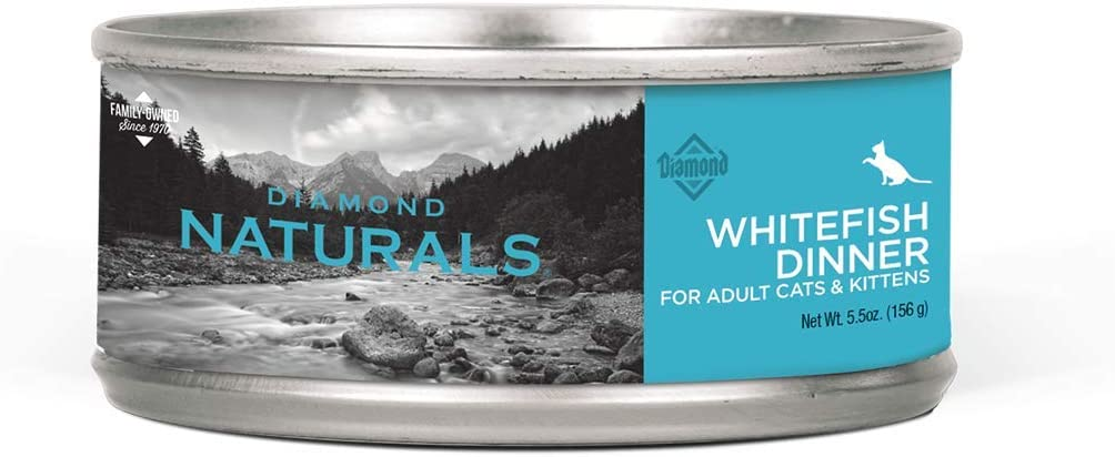 DIAMOND NATURALS Real Meat Recipes Premium Canned Wet Pate Chicken, Whitefish or Hairball Formula Cat Food with Protein and Nutrients for Supporting Overall Health in Cats and/or Kittens