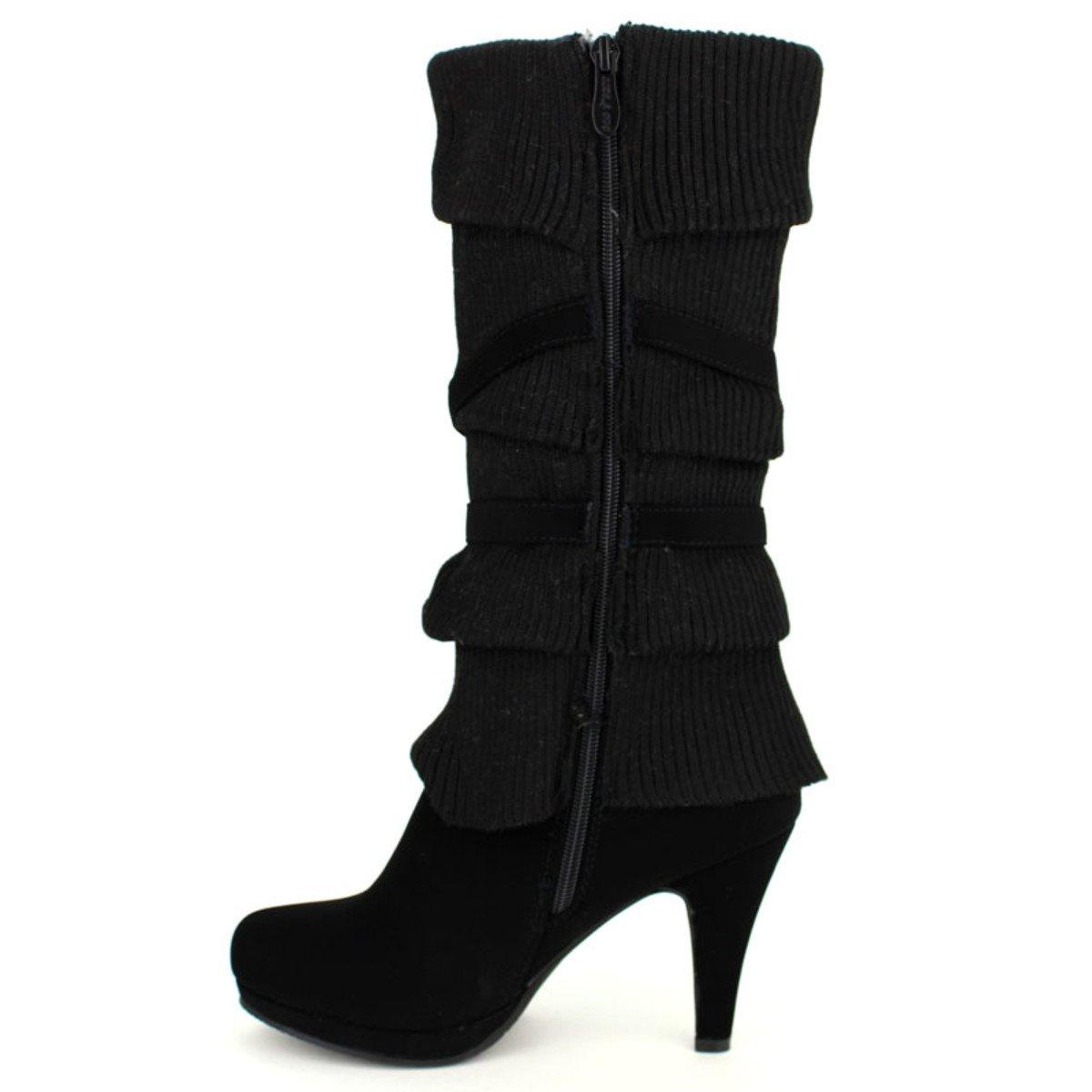 Noire Coline Guêtre Taille Femme Chaussures Botte 41 Cendriyon vqRz8FA