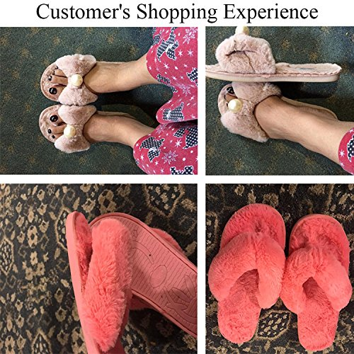 Indoor Pearl JOINFREE Season Pink Slide Bedroom Four Spa Slippers bare Shoes Comfort Women's Classy PZPq0