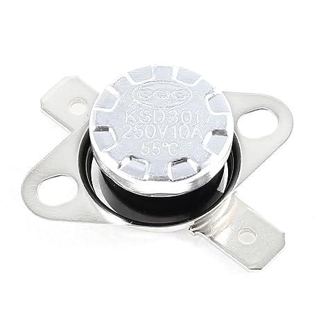Sourcingmap - Ksd301 ac 250v 10a 55 centígrados termostato interruptor de control de temperatura nc