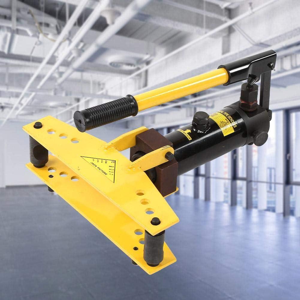 Máquina para doblar tubos, 6T de acero al carbono y hierro fundido, 150 mm de elevación, con 4 moldes de 3/8