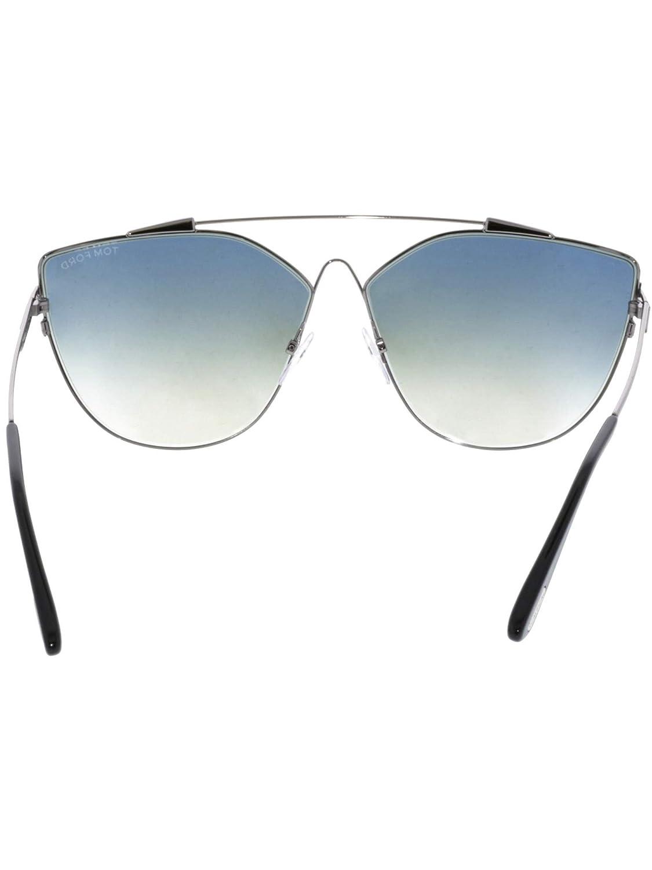 Tom Ford Jacquelyn-02 TF 563 col 14X Shiny light Ruthenium//Blue mirror
