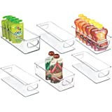 mDesign Stackable Plastic Kitchen Pantry Cabinet, Refrigerator or Freezer Food Storage Bins with Handles - Organizer for…