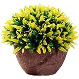 itemer Moderne Künstliche Pflanzen mit Topf Kunststoff Sträucher Gras Tischdekoration für Outdoor Office Home Kitchen Garden 15x 13cm
