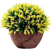 iTemer Modernas plantas artificiales con macetero con arbustos