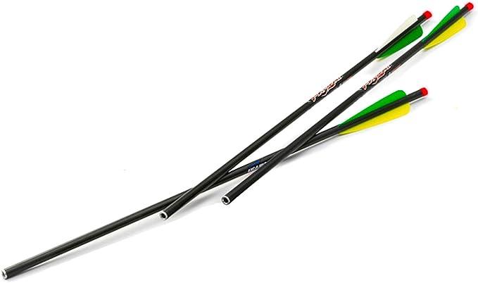 Lumenok Excalibur Firebolt lighted Crossbow ARROW bout plat Nock vert Pack de 3