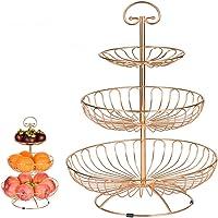 3-Tier Fruits Basket Fruit Holder for Kitchen Hanging Fruit and Vegetable Basket Countertop Fruit Stand Separable…