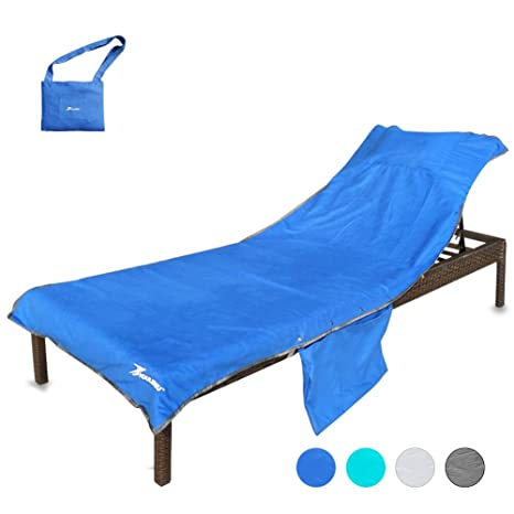 YOULERBU Beach Chair Cover With Pillow Breathable Sponge Thickened Pool Lounge  Chair Towel Beach Towel With