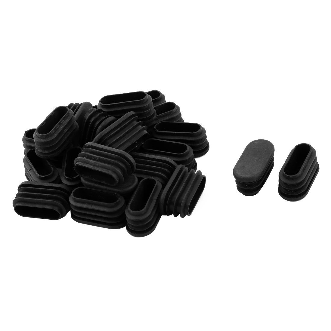 Uxcell Plastic Tube Inserts Oval Chair Table Leg Feet