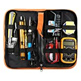 UL 110V/220V 60W Adjustable Temperature Welding Solder Soldering Iron Multimeter Tool Kits (US)