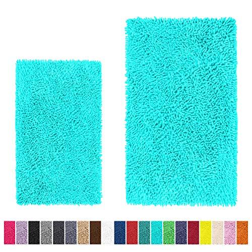 LuxUrux Bathroom Rug Set-Extra-Soft Plush Bath mat Shower Bathroom Rugs,1
