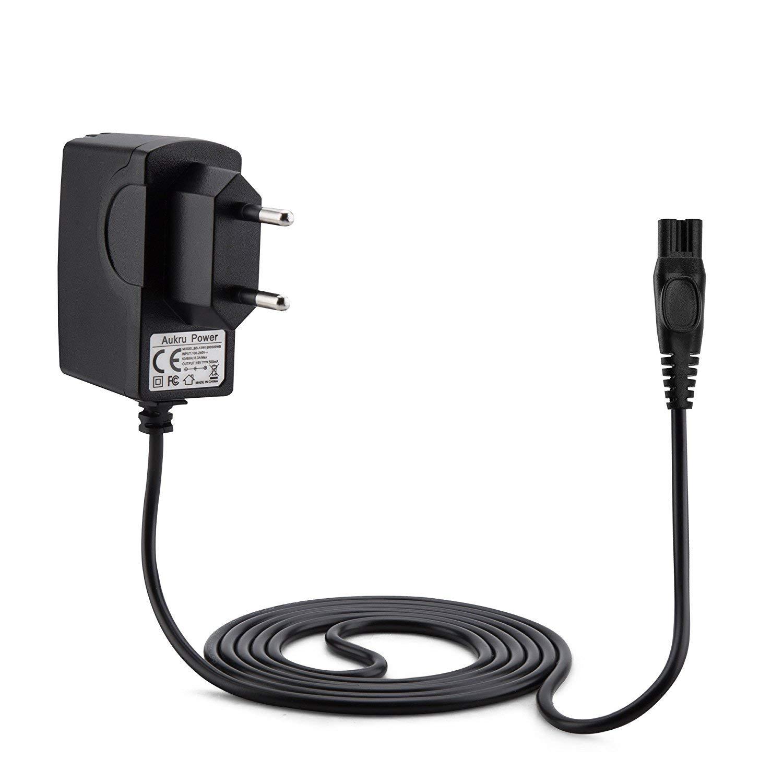 Aukru 15V Caricabatterie Alimentatore per Rasoio Elettrico Philips 1050X, 1050CC, 1059X, 1060X, 1090X, RQ1051, RQ1075, RQ1085, RQ1095, RQ1090, RQ1060, RQ1050 EU-15V-Arcitec