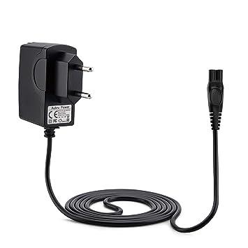 Aukru Cargador de Fuente de alimentación 15v para Philips afeitadora eléctrica RQ1050, RQ1060, RQ1051, RQ1075, RQ1085, RQ1095, RQ1090, 1050X, 1050CC, ...