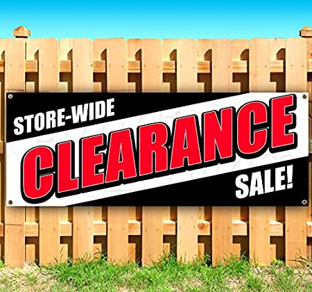 Store Flag, Many Sizes Available Store-Wide Clearance Sale New 13 oz Heavy Duty Vinyl Banner Sign with Metal Grommets Advertising