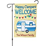 """Personalized RV Single-Sided Garden Flag -- 12"""" x 17"""", polyester, weather-resistant, Camper garden flag"""