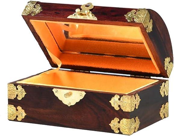 Joyero Chunlan Caja de Almacenamiento de Madera del Cofre del Tesoro Caja de Regalo de Caja de joyería: Amazon.es: Hogar