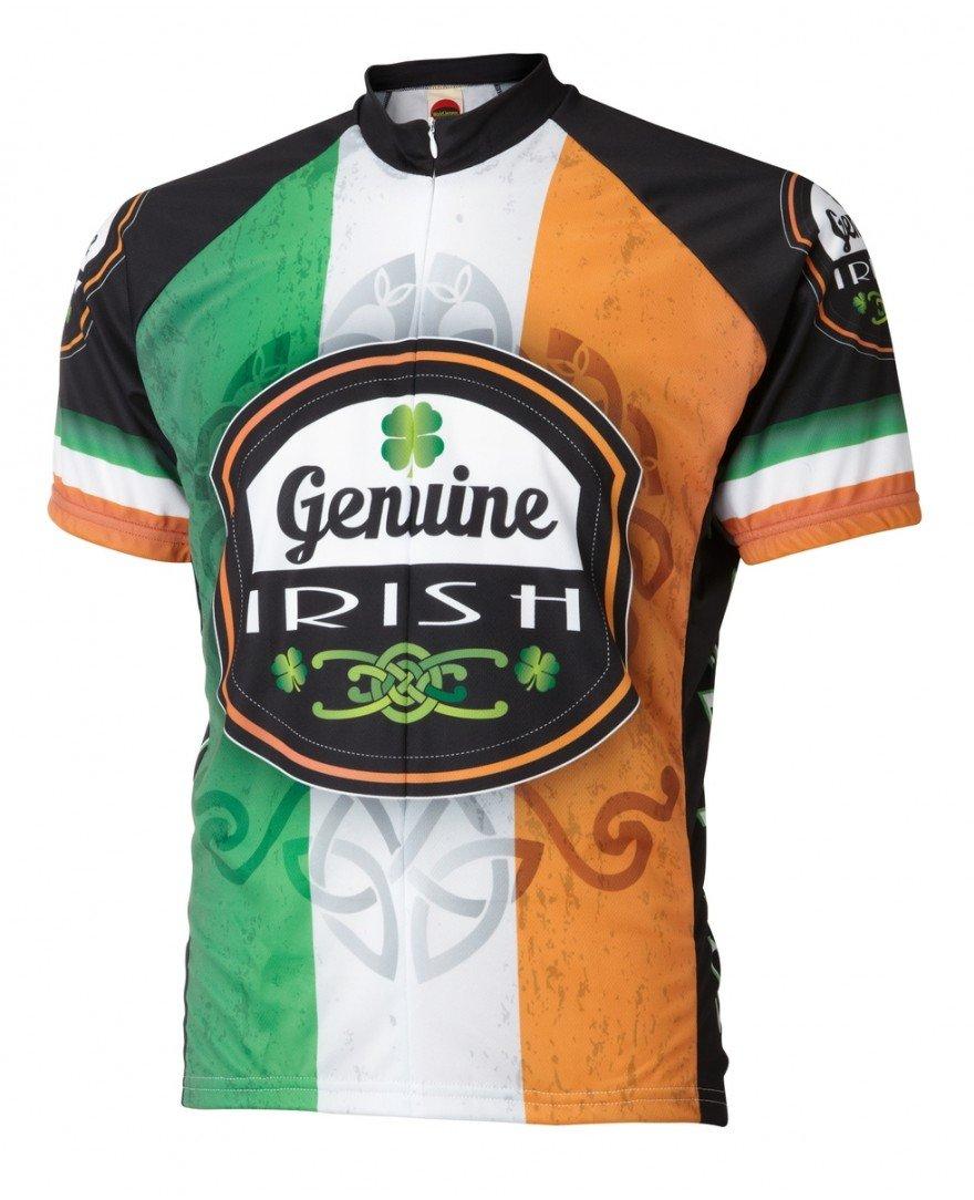 純正アイルランドアイルランドCycling Jersey by Worldジャージメンズ半袖 B00GWAAM6O X-Large