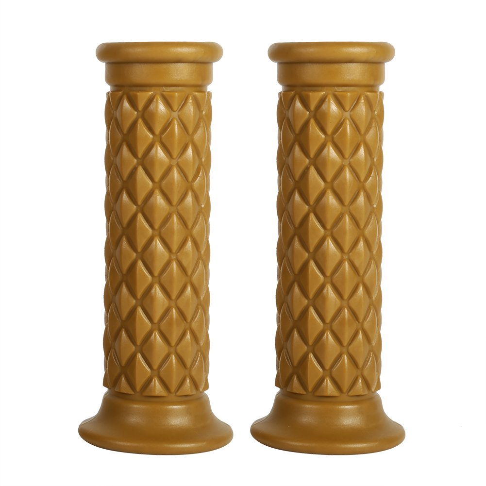 Brown Anauto 1 Pair of 7//8 22mm Universal Rubber Motorcycle Handlebar Hand Grips Bar End Hot