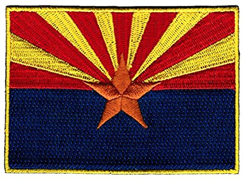 Arizona Flag Patch / Embroidered Sew-On Iron-On Emblem by Backwoods Barnaby (U.S. State AZ, 2.5