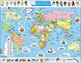 united states and canada puzzle - Larsen K1 The World Political Puzzle (107 Pieces)
