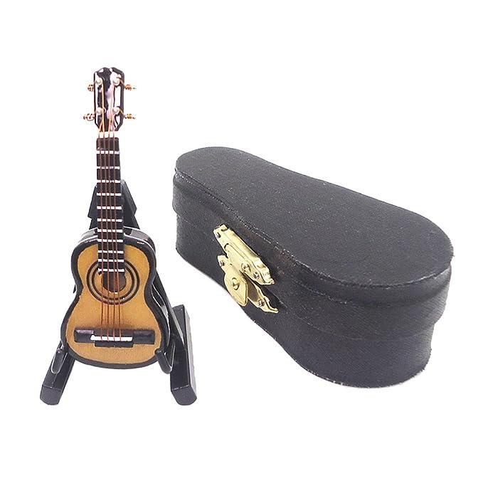 Amazon.es: perfeclan Modelo De Instrumento En Miniatura, Guitarra ...