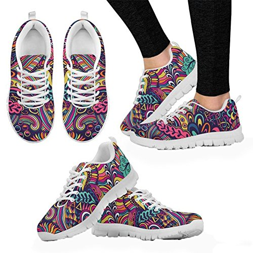 Casual Walking 12 1 Running Mesh Shoes Coloranimal US5 Psychedelic Flat Sneakers Lightweigh 7YIqIza