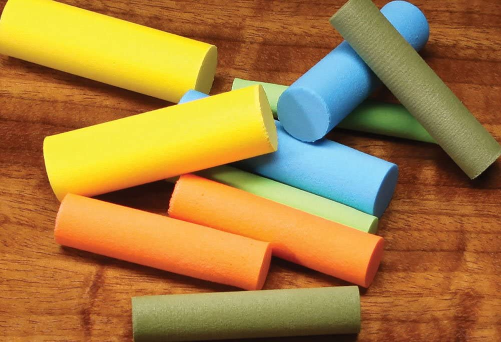 Fly Tying Foam Tube 5 And 6 mm- Mixed Colour Packs 2.8 Foam Cylinders 3.5