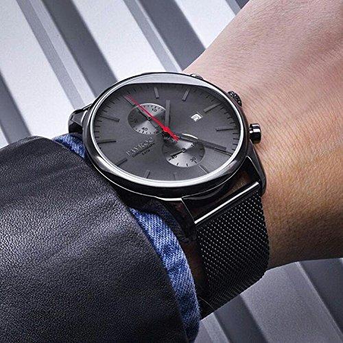 Reloj hombre RELOJ tayroc Iconic Negro Cronógrafo Acero inoxidable Cuarzo Pulsera txm054: Amazon.es: Relojes