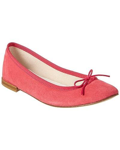 401c9391b7b Amazon.com | Repetto Cendrillon Suede Ballerina Flat, 38.5, Pink | Flats