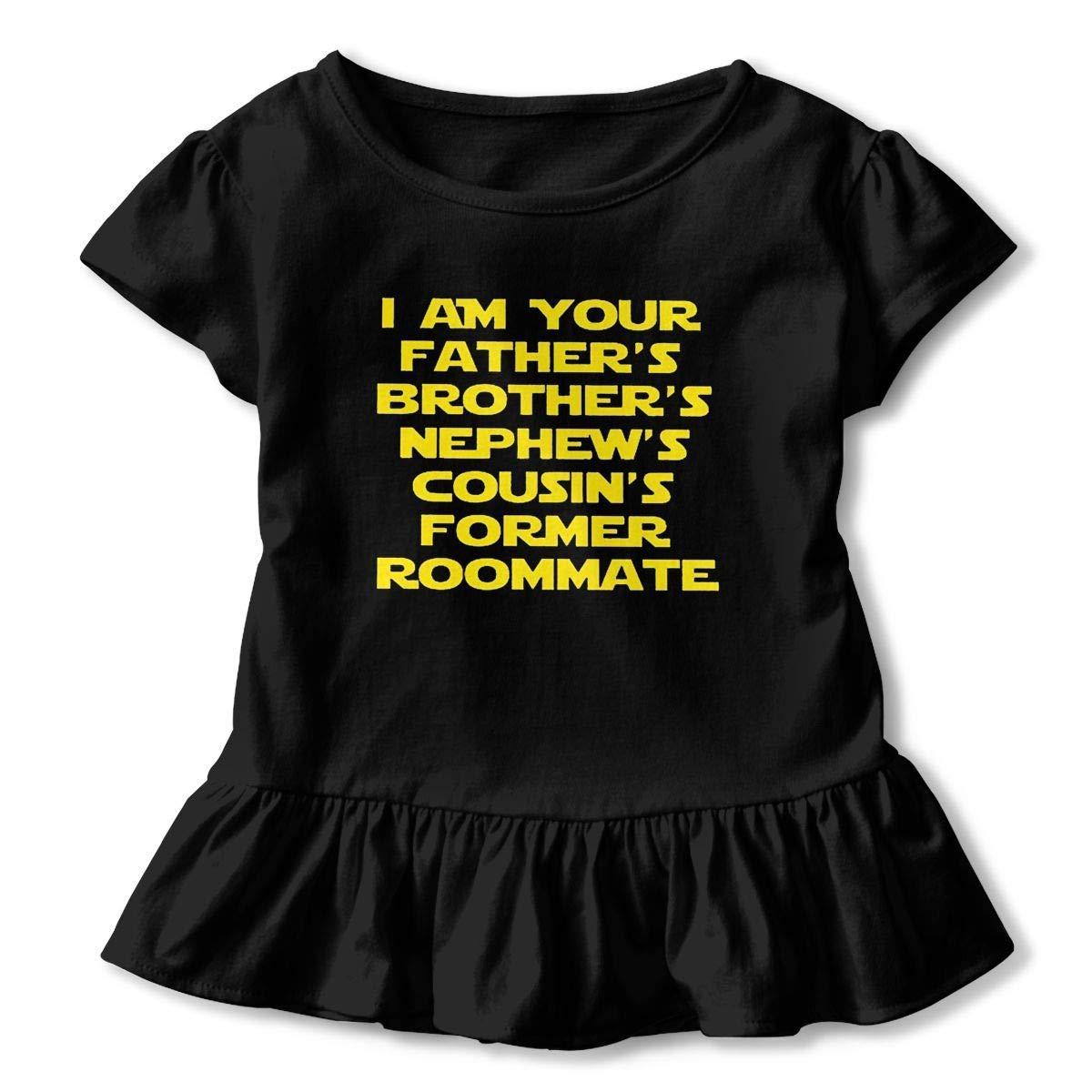 lu fangfangc WHO I AM T-Shirt Infant Girl Flounced T Shirts Fashion Outfits for 2-6T Baby Girls