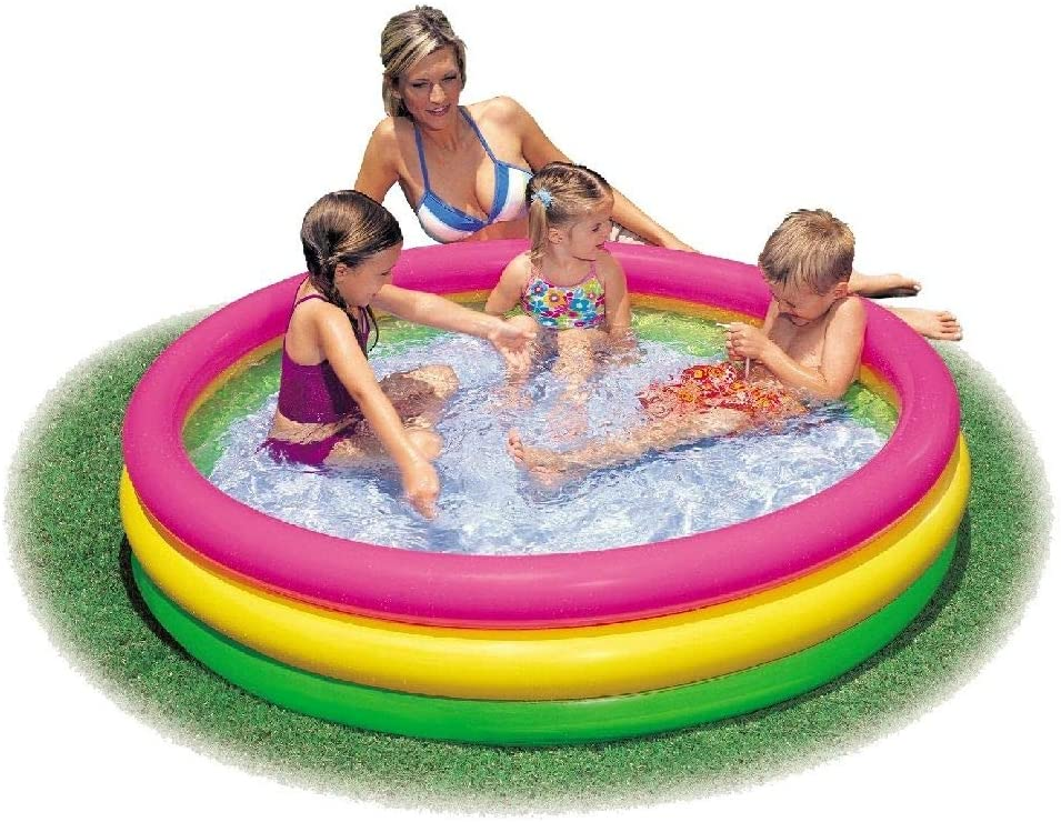 ColorBaby Piscina Hinchable 3 Aros Sunset 114x25cm: Amazon.es ...