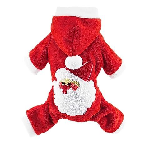 Handfly Perro Gato Trajes de Navidad Santa Traje de Perro ...