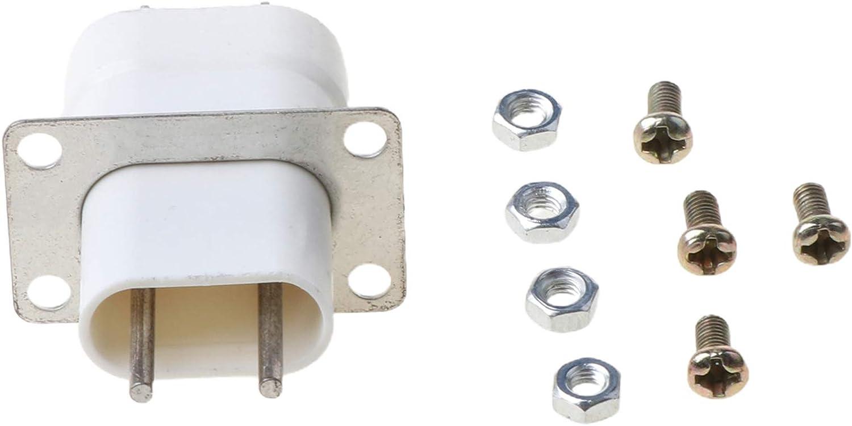 BELTI Inicio Horno microondas electrónico Magnetrón Filamento Convertidor de Enchufe de 4 Pines Blanco