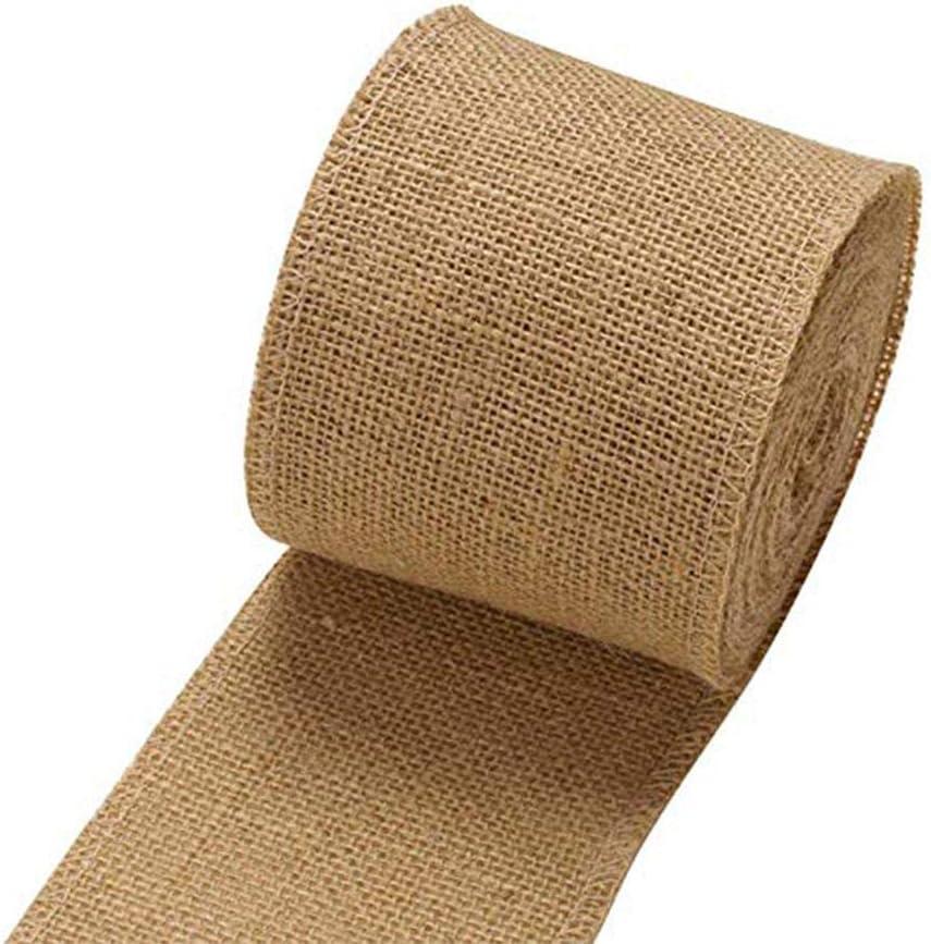 Firoya - Rollo de tela para arpillera o arpillera (cinta de cuerda, para decoración de bodas, bricolaje)