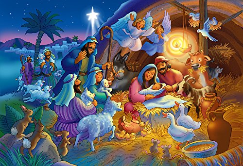 Vermont Christmas Company Heavenly Night Kid's Jigsaw Puzzle 100 Piece
