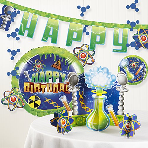 Forum Novelties Mad Scientist Birthday Party Decorations Kit -