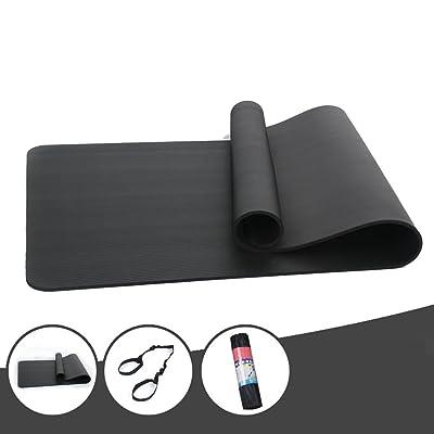 HJHY® Tapis de yoga, 10mm Tapis d'exercice Fitness Couverture antidérapante Sans saveur Thicken Widen Rallonger Bonne élasticité