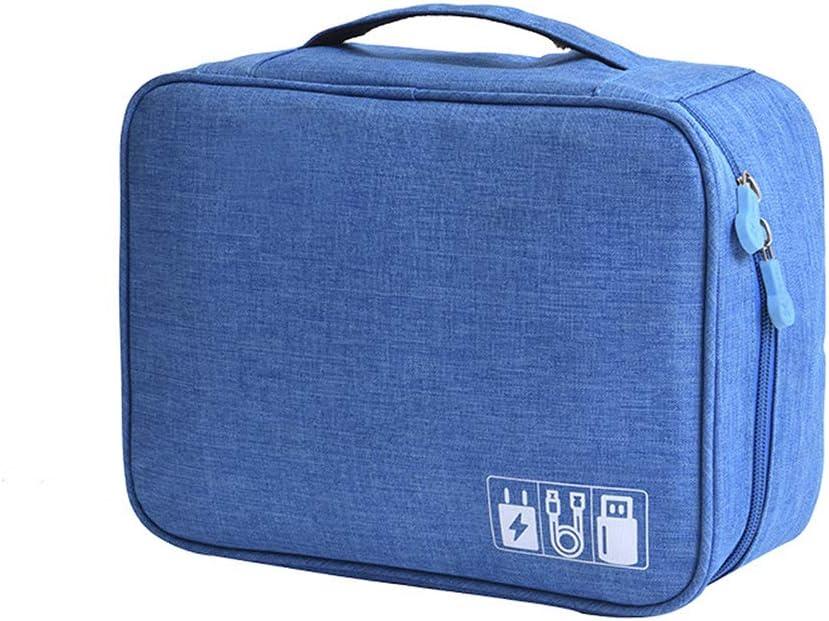 IWTTWY Universal Electrónico Bolsa Cable Accesorios Impermeable Organizador Bolsa para Viajes, Estuche para Cargador, Banco de Energía, USB, Teléfonos, iPad Mini (Azul): Amazon.es: Equipaje