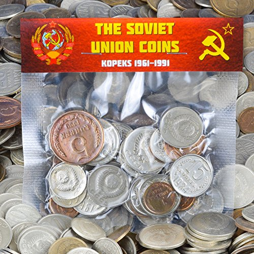 LOT of 30 USSR Soviet Russian KOPEKS Coins 1961-1991 Cold WAR Hammer and Sickle Money