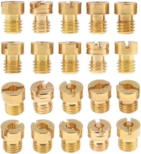 Homyl 11pcs Kit Gicleurs Piece Carburateur en Cuivre