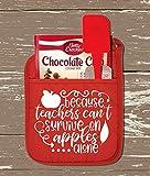 #10: Because Teachers Can't Survive On Apples Alone Pot Holder Kit-Teacher Gift