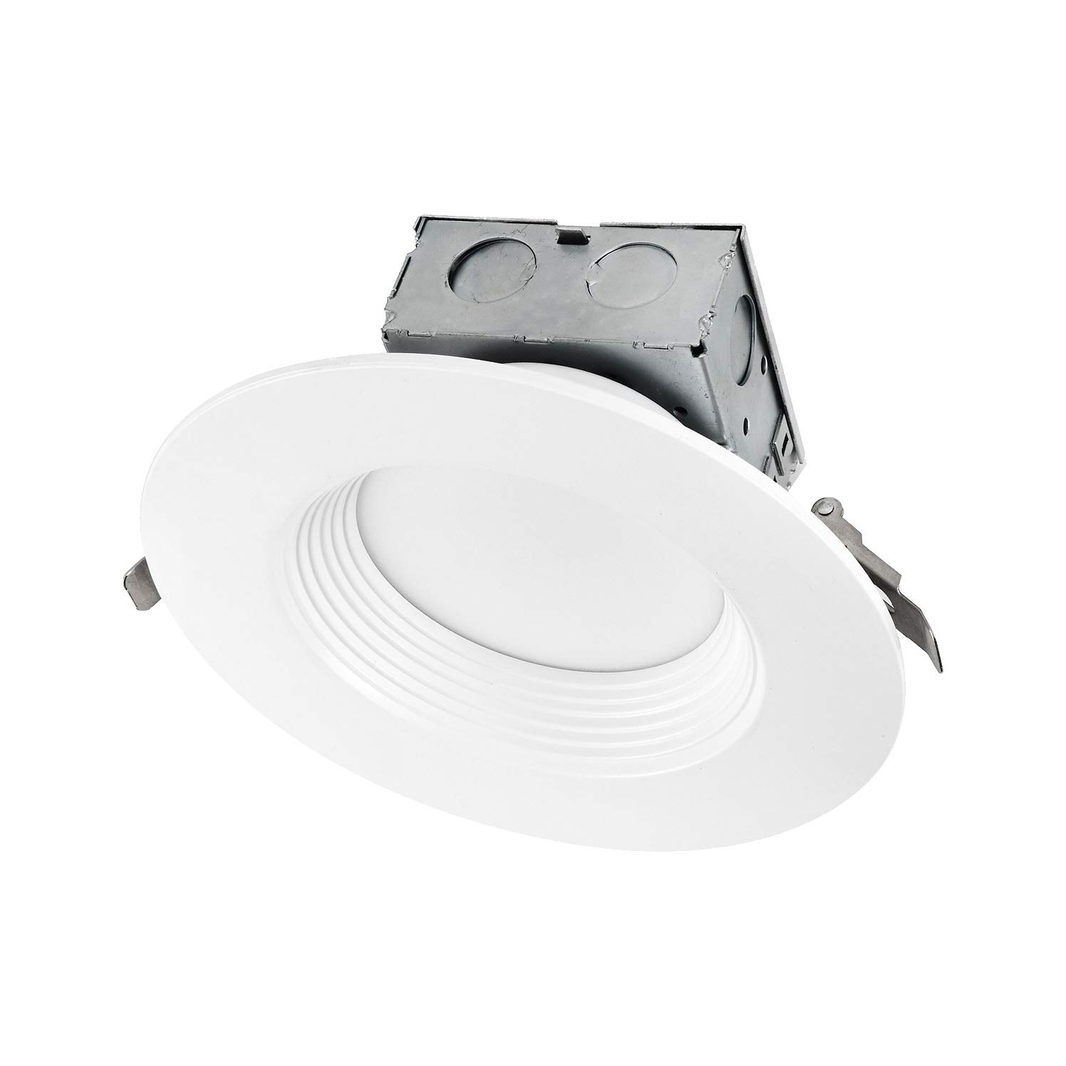 OSTWIN 6 Inch Round LED Recessed Ceiling Light Fixture, Dimmable, Downlighter Junction Box, IC Rated, 15W (120 Watt Replacement) 3000K, 1100Lm, No Can Needed, ETL and Energy Star Listed
