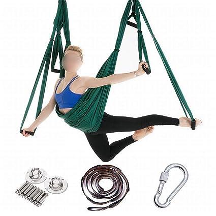 Amazon.com: Souliyan Aerial Yoga Hammock 6 Handle-Free, Hong ...