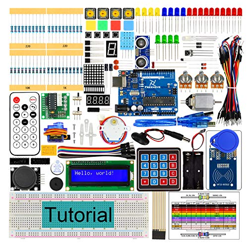 Freenove RFID Starter Kit V2.0 with R3 Board (Compatible with Arduino IDE), 252 Pages Detailed Tutorial, 198 Items, 49 Projects, Solderless Breadboard (Raspberry Pi Programming Kit)