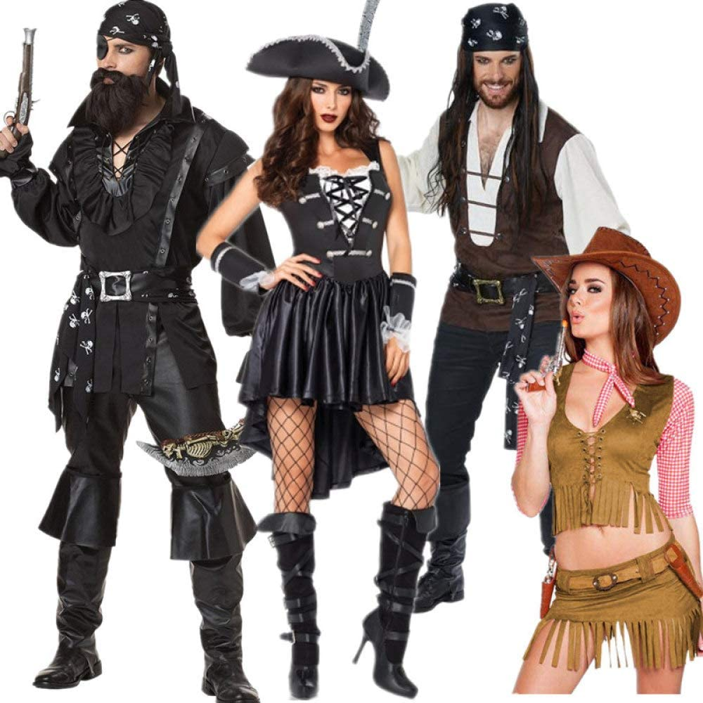 WSJYP Disfraz De Halloween Pirata Pareja Adulto Mascarada Cos Jack ...