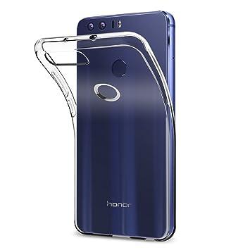 spigen Funda Huawei Honor 8, [Silicona Transparente Transparente Adecuado, Carcasa para Honor 8 - Case Liquid Crystal (L09CS20883)
