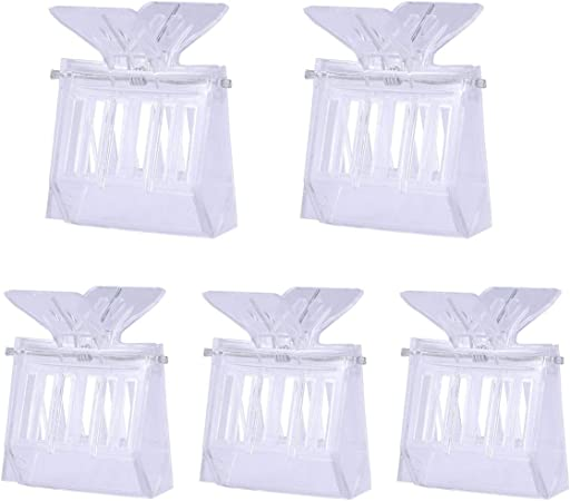 Transparent Plastic VORCOOL 5pcs Beekeeping Queen Bee Cage Catcher Clips
