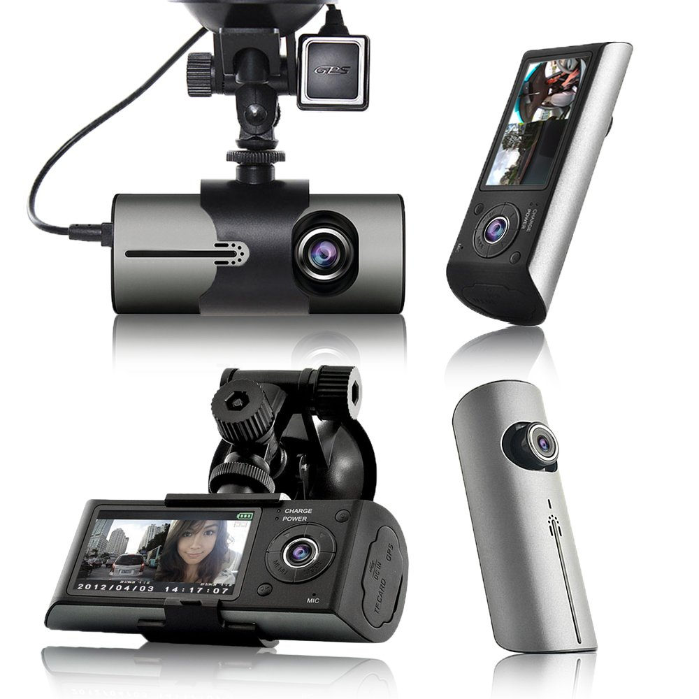 Indigi Dash Cam DVR (2.7'' LCD + GPS Mod & Google Maps Review + Dual Lens (Front & In-Cab) + Motion detect)