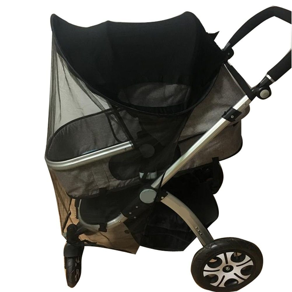 Baby Stroller Universal Sunshade Ray Shade Pram UV Protection Cover, Weather Shield, Elastic Fabric for Infant Kids- Upgrade with Mosquito Net