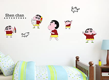 office wall stickers. Shin Chan Wall Stickers For Home And Office, Decoration Living Room, Bedroom, Office